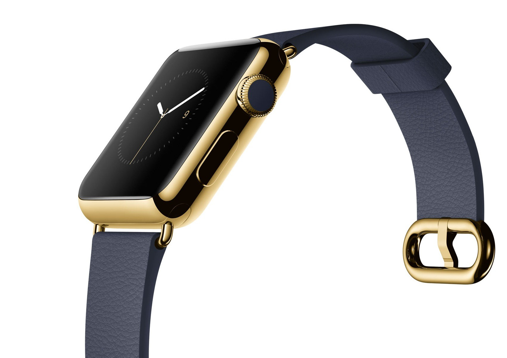 Apple Watch Edition, 18 karat gull, lanseres april 2015. Komplett med programvare, high tech i 2015.
