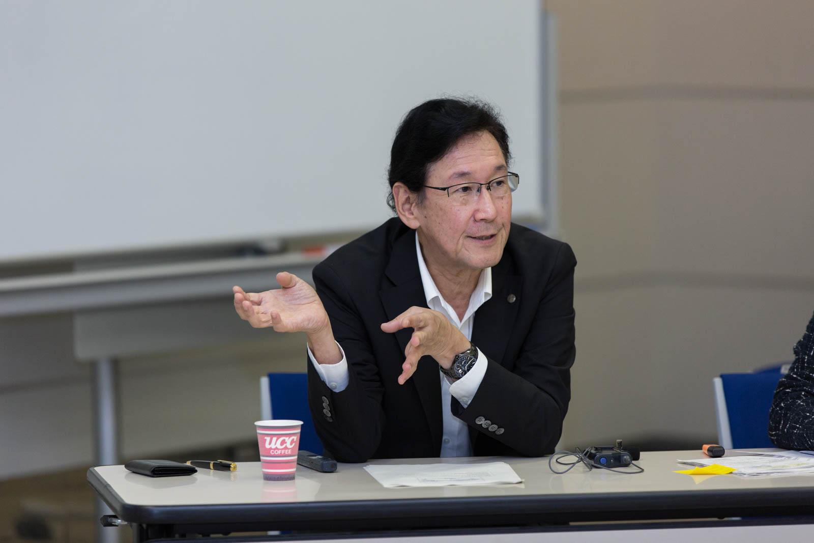 """Lange titler: Mr. Yuichi Masuda – """"Senior Executive Managing Officer"""", """"Senior General Manager of Timepiece Division"""" og styremedlem."""