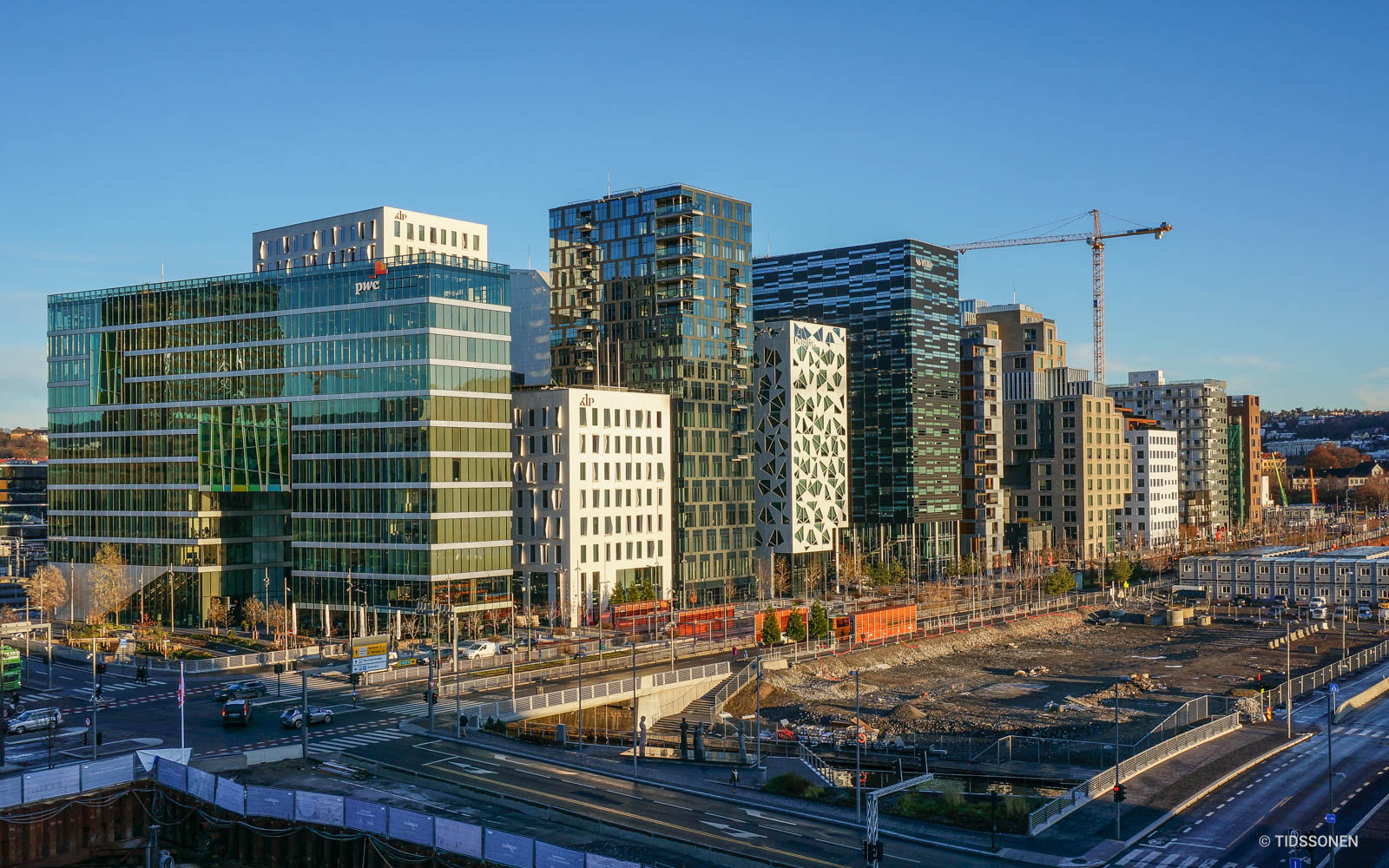 """The up-and-coming Bjørvika """"Bar Code"""" business district."""
