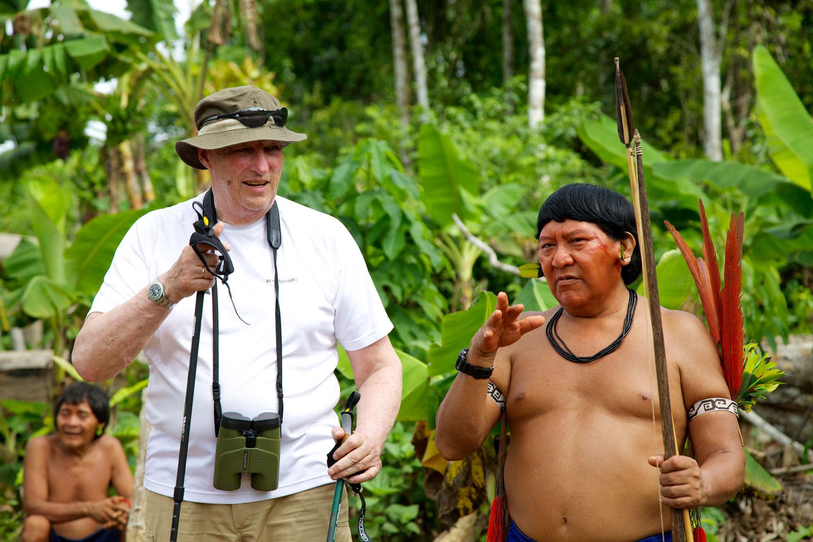 Kongen med sin GMT-Master i Amazonas (2013).